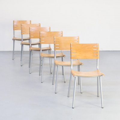 Set of 6 Ruud Jan Kokke dining chairs for Harvink, 1990s