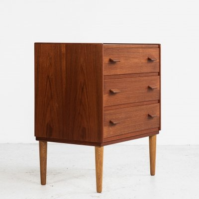 Midcentury Danish chest of 3 drawers in teak by Poul Volther for Munch Møbler
