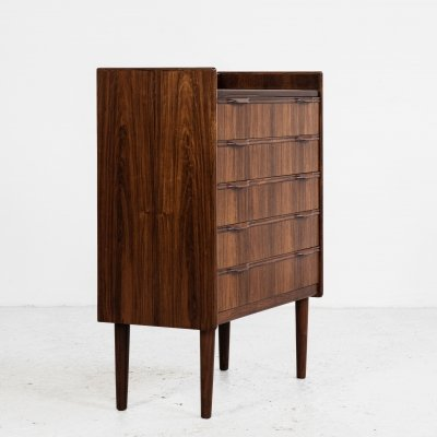Midcentury small Danish chest of 5 drawers in rosewood, 1960s