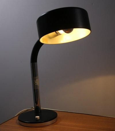 Black desk lamp by Hustadt Leuchten, 1970s