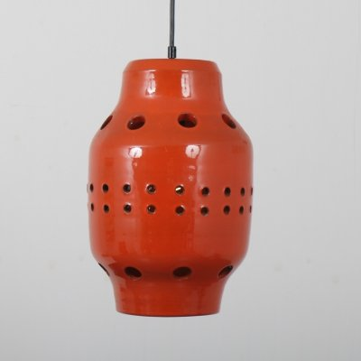 1960s Ceramics hanging lamp from the Netherlands