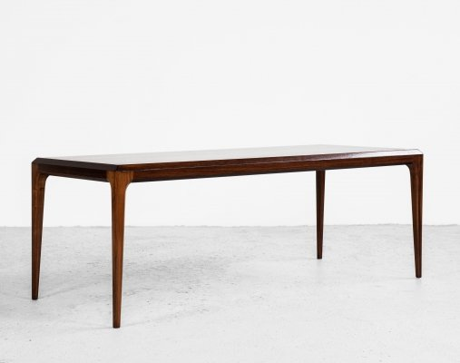 Midcentury Danish coffee table in rosewood by Johannes Andersen for Silkeborg