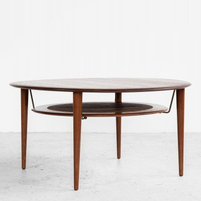 Midcentury Round Coffee Table in Teak by Hvidt & Mølgaard for France & Søn