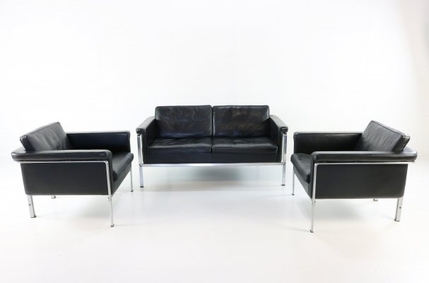 Leather & steel Horst Brüning Seating group for Kill International