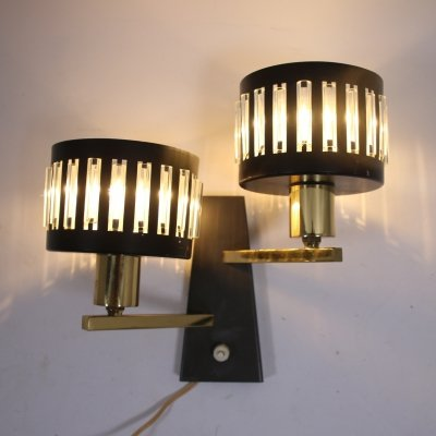 Vintage Black Wall lamp with 2 light points