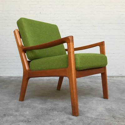 Teak Lounge Chair by Ole Wanscher for P. Jeppesen, Denmark 1950s