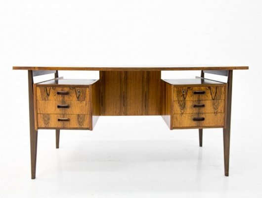 Mid Century Modern Rosewood Writing Desk