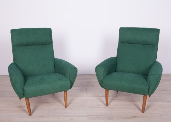 Pair of Mid Century Danish Club Armchairs, 1970s