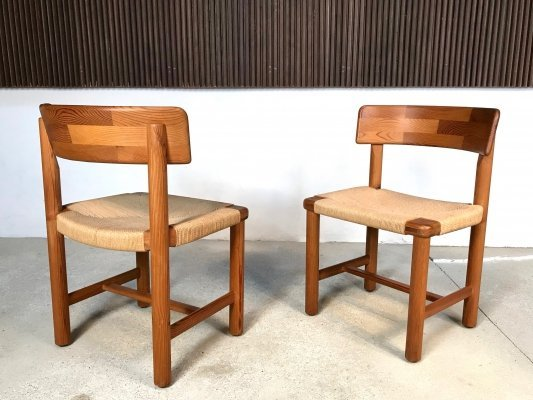 Pair of Danish Pinewood Side Chairs by Rainer Daumiller for Hirtshals, 1970s
