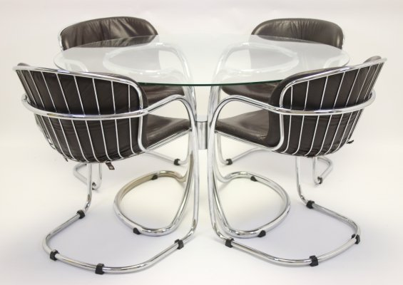 Italian dining room set by Gastone Rinaldi for Rima, 1960s