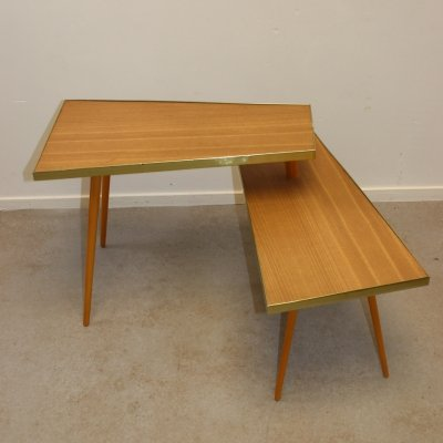2 part Plant table with movable corner