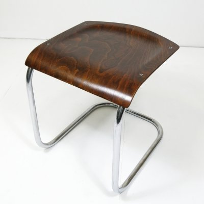 Rare tubular steel cantilever stool by Mart Stam, 1930s