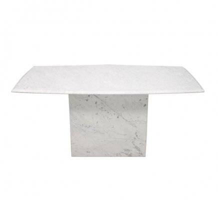 White Carrara Mable Dining Table, Italy 1970s