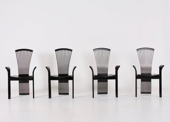 Set of 4 Pietro Costantini arm chairs, 1980s
