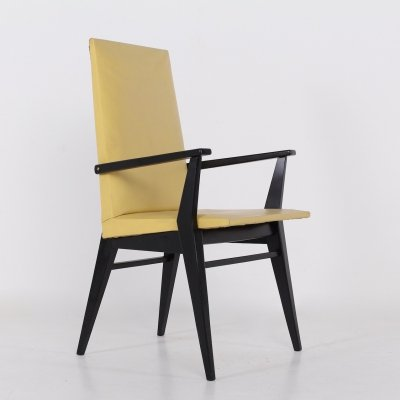 Armchair with compass shaped legs, 1950s