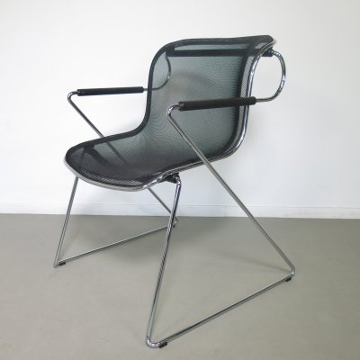 Penelope arm chair by Charles Pollock for Anonima Castelli, 1980s