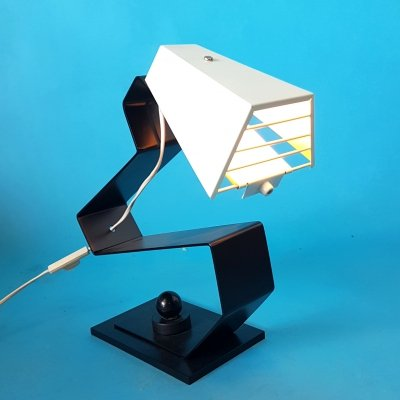 Handcrafted post modern desk lamp, 1980s