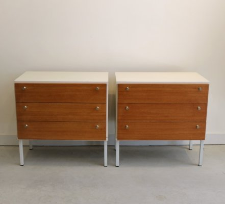 2 x Formule Meubelen chest of drawers, 1960s
