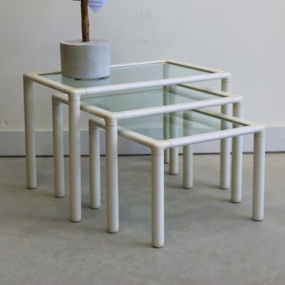 Vintage nesting table, 1980s