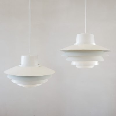 Set of 2 Verona hanging lamps by Sven Middelboe for Nordisk Solar, 1970s