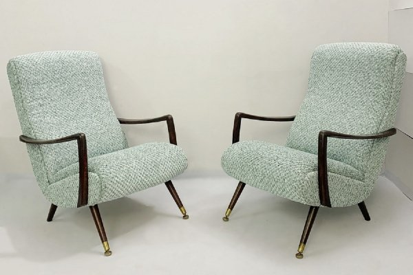 Pair of Italian armchairs, 1950s