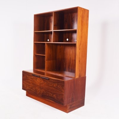 Rosewood Bookcase by Ib Kofod-Larsen for Faarup Møbelfabrik