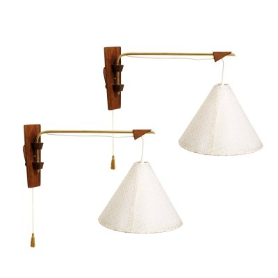 Two Mid Century Modern wall lamps, 1960s