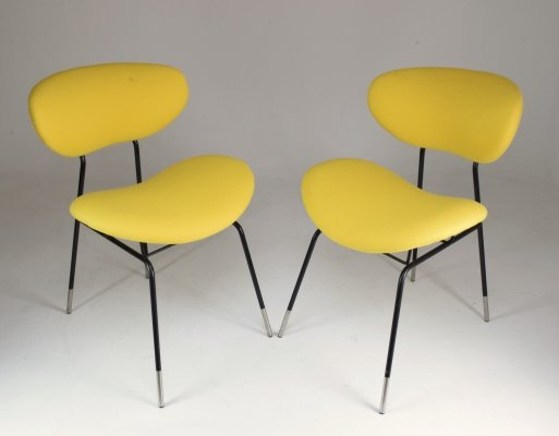 Pair of Italian Mid-Century Gastone Rinaldi Chairs for RIMA, 1950's