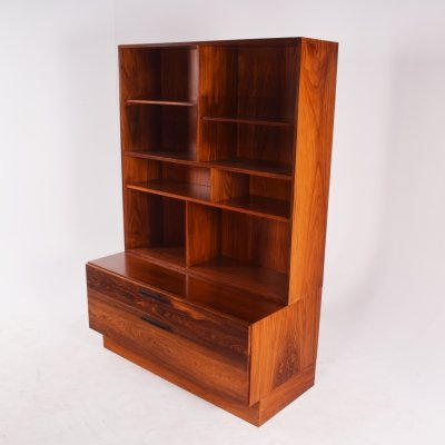 Rosewood Bookcase by Ib Kofod Larsen for Faarup Møbelfabrik