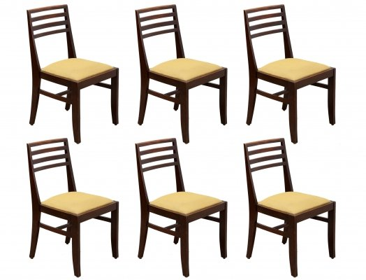 Set of 6 Art Deco chairs by De Coene, Belgium 1930s