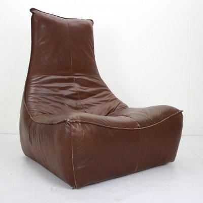 Gerard Van Den Berg 'the Rock' Leather Lounge Chair for Montis, NL 1970s