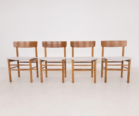 Set of 4 oak dining chairs, Denmark 1960's