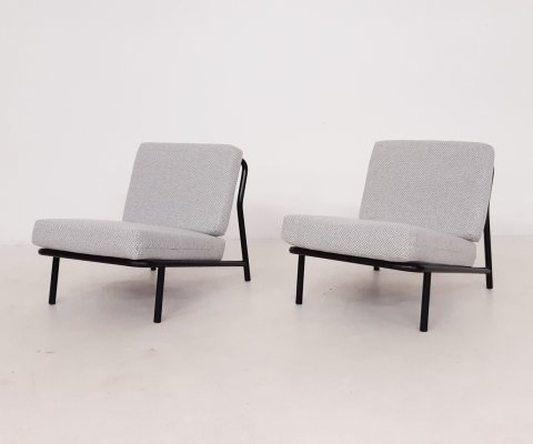 Set of 2 Alf Svensson for DUX model 013 lounge chairs, Sweden 1960's