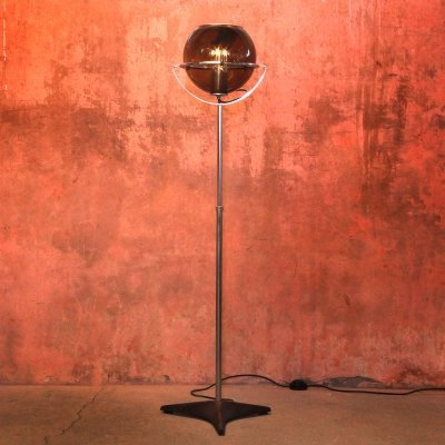 Vintage Globe Floor Lamp by Frank Ligtelijn for Raak Amsterdam, 1960s