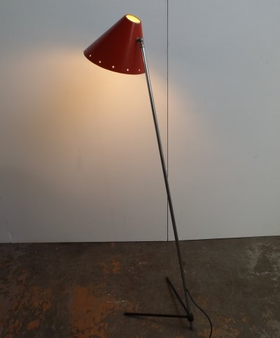 Big Pinokkio floor lamp by H. Busquet for Hala Zeist, 1950s