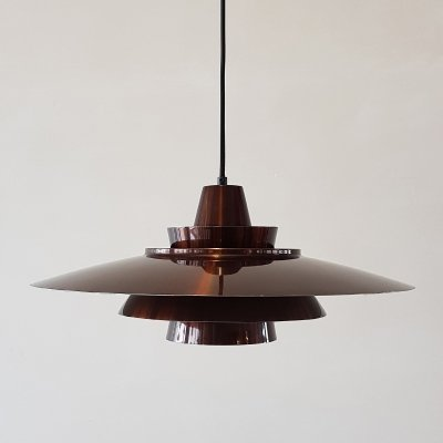 Hanging lamp in metallic brown by Superlight Denmark, 1970s