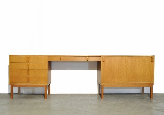 Vintage oak sideboard by B. Fridhagen for Bodafors, Sweden 1964