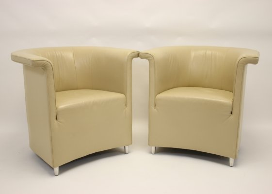 Pair of Leather 'Ds 725' Armchairs by De Sede, 1990s