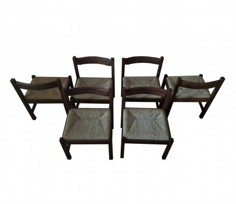 Set of 6 'Torbecchia' chairs by G. Michelucci by Poltronova, Italy 1964