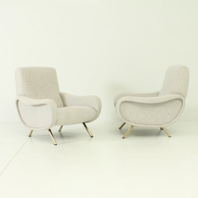 Pair of Ladies Armchairs by Marco Zanuso for Arflex