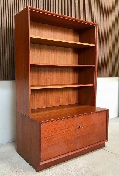 German Mid-Century Teak Cabinet with Bookcase by Strobeck, 1960s
