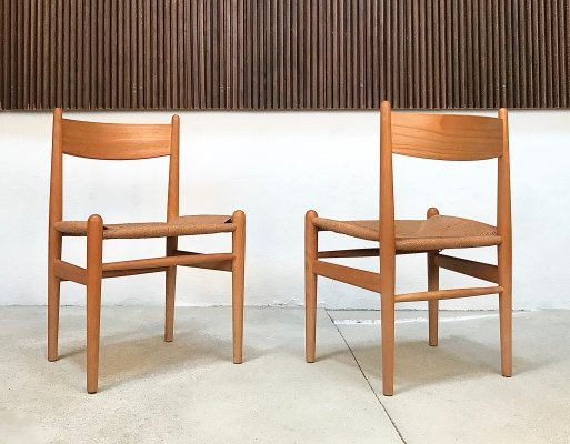 Pair of CH36 Shaker Chairs by Hans J. Wegner for Carl Hansen & Søn, 1960s