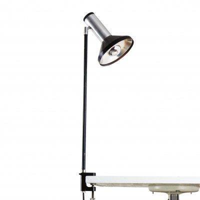 Minimalistic Philips clamp desk light, 1970s