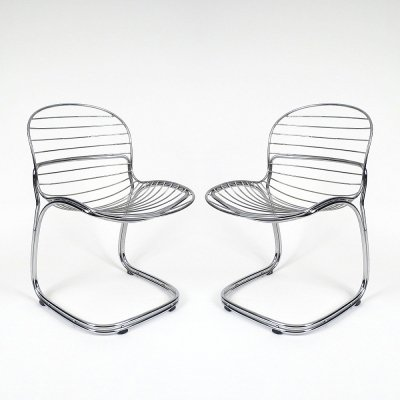 Pair of Italian Sabrina chairs from Gastone Rinaldi, 1970s