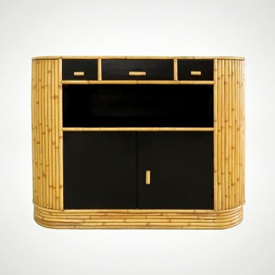 Dutch rattan & lacquered wood buffet