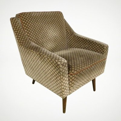 German lounge chair with original upholstery, 1960s