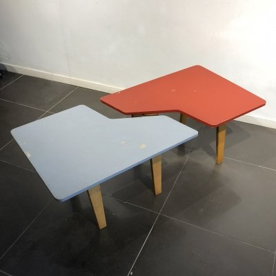 Rare 'TB14' Puzzle Table by Cees Braakman for UMS Pastoe, 1952