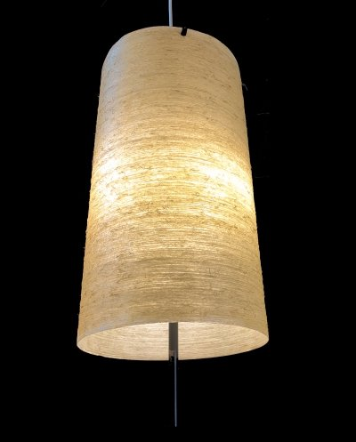 Fiberglass tube pendant light, 1960s