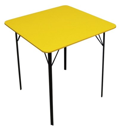 Yellow Mid Century Dining Table, 1960s