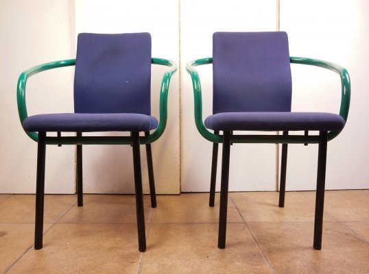 Pair of Ettore Sottsass Mandarin Chairs, 1980s